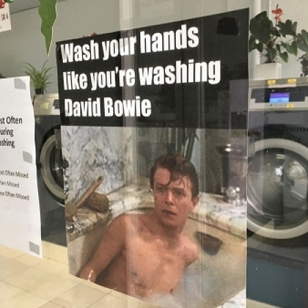 Wash your hands like your washing David Bowie
